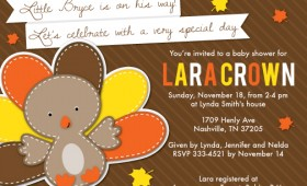 Thanksgiving Baby Shower Invite