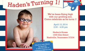 Haden's First Birthday Invitation