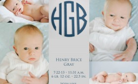 Henry's Birth Announcement