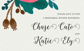 Cato/Ely Rehearsal Dinner Invitation