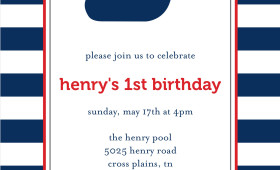 Henry's Birthday Party Invitation