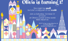 it's a small world – birthday party invite